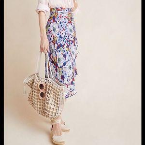 NWT Anthropologie Sybil Wrap Skirt